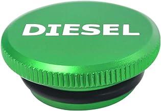 Diesel Billet Aluminum Fuel Cap Magnetic Green For 2013-2019 Dodge Ram Cummins