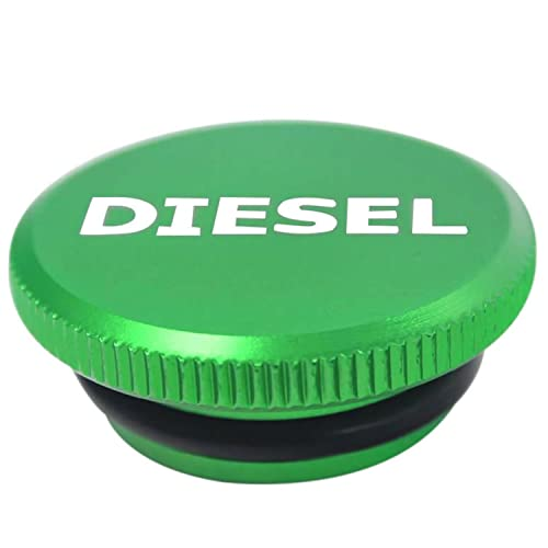 Diesel Billet Aluminum Fuel Cap Magnetic Green For 2013-2019 Dodge Ram Cummins