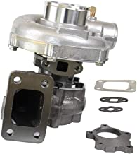 Hybrid T04E T3 T4 T3/T4 Turbo TO4E Turbocharger 5 Bolt Downpipe Flange .63 A/R .50 A/R 400+HP Boost Stage 7PSI-21PSI Oil Cooled