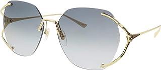 غوتشي GG0651S 002 نظارة شمسية للنساء عدسات متدرجة لون ذهبي/رمادي عدسات متدرجة 59 ملم