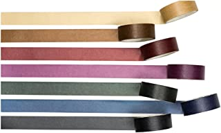 Vintage Dark Color Washi Tape Set of 7 Rolls Assorted – Classy Design Diary Notebook Scrapbook Decorative DIY Japanese Masking Adhesive Sticky Paper Washi Tape Set (Width: 15mm)