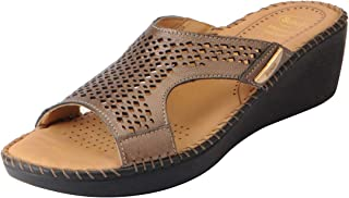 Dr.Scholls Women's Genuine Leather Mule Wedge Sandals