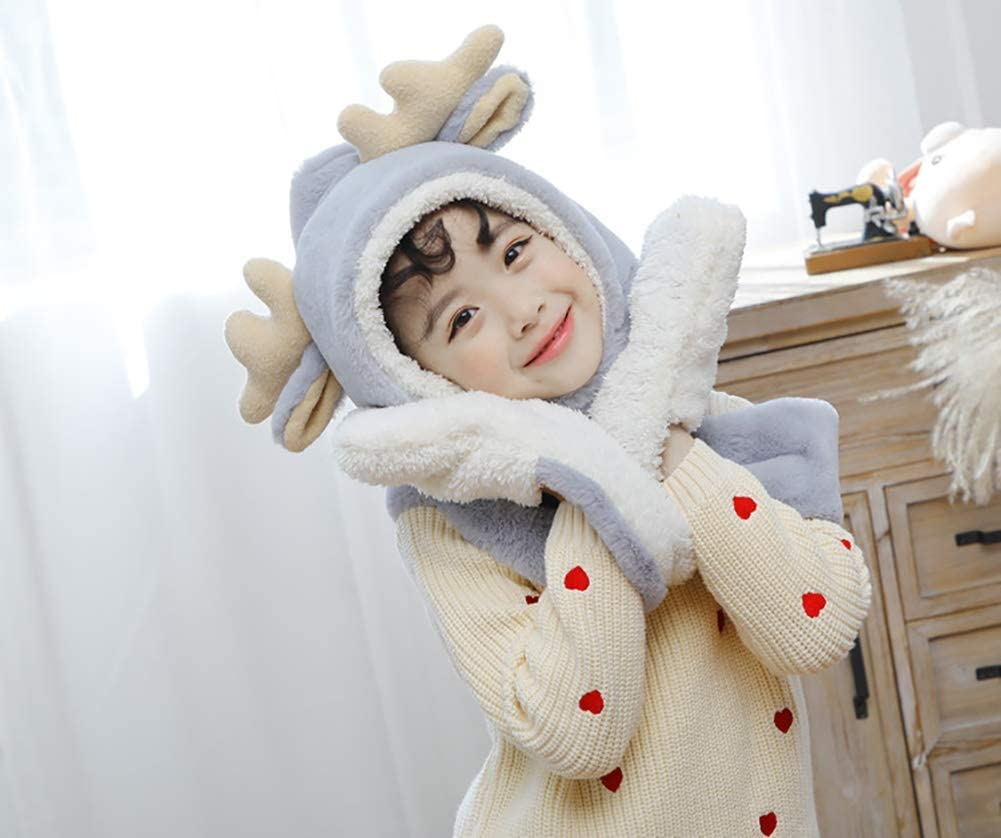 BNSDMM Scarf hat Brand Cheap Sale Venue Gloves Three-Piece Cute Autumn and SEAL limited product Winter Fawn