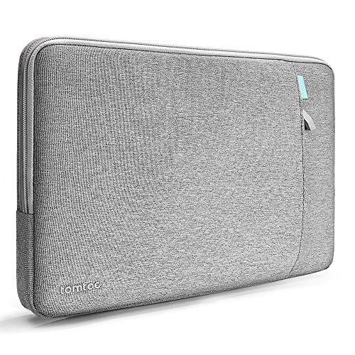 tomtoc Laptop Sleeve for 13-inch MacBook Air 2018-2020 M1/A2337 A2179, 13-inch MacBook Pro USB-C 2016-2020 M1/A2338 A2251 A2289, Dell XPS 13, Notebook Case Bag with Accessory Pocket, Grey