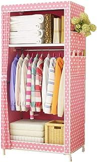 Zhicaikeji Garde-Robe Simple Acier Unique Non Tissé Casiers Simples De Location Dortoir Tissu Garde-Robe Garde-Robe Est Id...