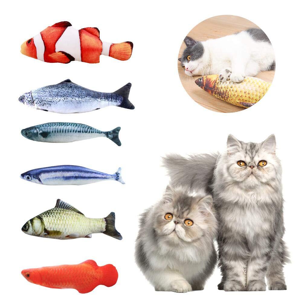 ASANMU Juguete Hierba Gatera, 6pcs Juguete para Gato 20 cm Juguetes del Catnip, Juguete Gato Pez Simulación Peluches Pescado Juguetes Interactivos para Gatos Pescados del Juguete Interactiva Mascota: Amazon.es: Productos para mascotas