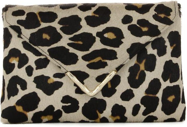 Elaine Turner Multicolour Bella In Taupe Cheetah Calfskin