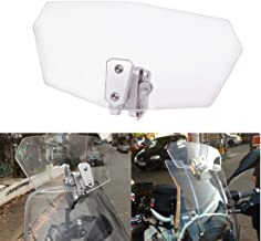 Goldfire Universal Motorcycle Windshield Airflow Adjustable Windscreen Wind Deflector for Kawasaki BMW Benelli KTM Triumph (Color: Clear)
