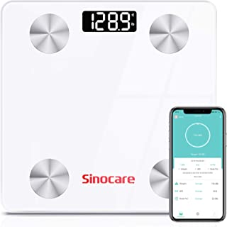 sinocare Body Fat Scale,Smart Digital Bluetooth Weight BMI Scale,Composition Monitor Analyzer with Smartphone App