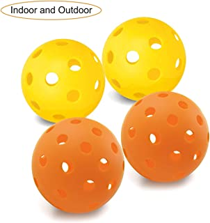 EasyTime Outdoor and Indoor Pickleball Balls, Specifically Optimized Design Pickleball Balls, Flight Trajectory is Stable, High Elasticity