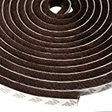 Sumnacon 1 Pcs Weatherstrip for Window,Door, Wardrobe, Car, Perfect to Windproof Shelter from The Wind, Dustproof, Soundproof Sound Deadener, 16 ft Long (11/32x11/32 inch, Brown)