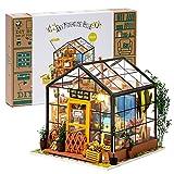 Rolife Maison Miniature a Construire, Maison de poupée Faite Main Miniature(Cathy's Flower House)