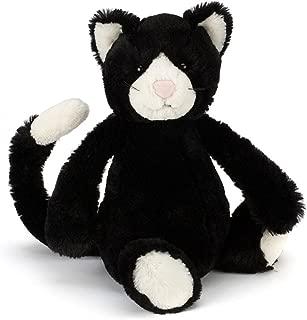 Jellycat Bashful Black and White Cat Stuffed Animal, Medium, 12 inches