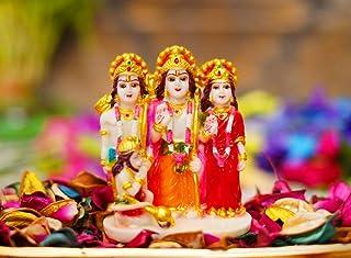 The Razzle Box Marble Ram Darbar Murti/Idol   God Ram Sita Laxman & Hanuman Darbar/Statue - Spiritual Religious Vastu Pooj...