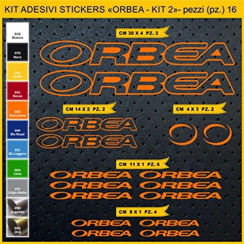 Adesivi Bici ORBEA- Kit 2 - Kit Adesivi Stickers 16 Pezzi -Scegli SUBITO Colore- Bike Cycle pegatina cod.0931 (035 Arancione)
