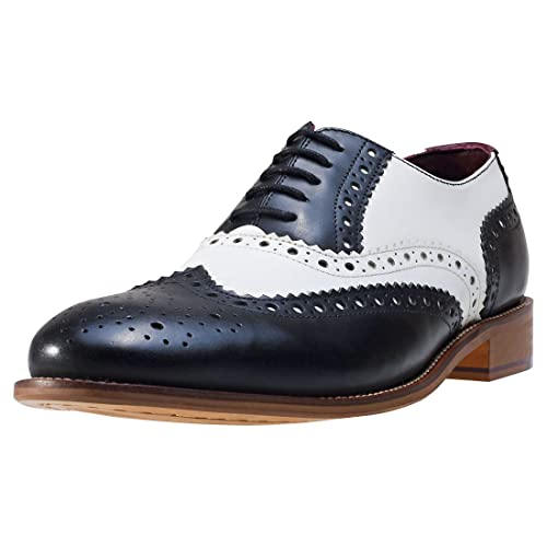 00a615a2eb3b4 Black and White Brogues: Amazon.co.uk