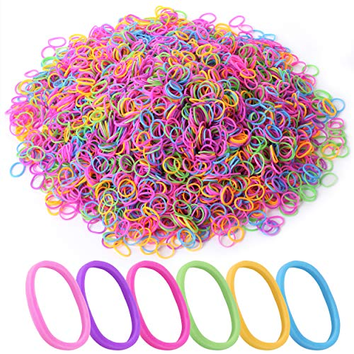 Mr. Pen- Hair Rubber Bands, 2400 Pack, Assorted Color, Colorful Rubber Bands for Hair, Hair Bands, Elastic Hair Ties, Mini Hair Ties, Rubber Hair Ties, Hair Ties for Baby Girls, Baby Hair Ties