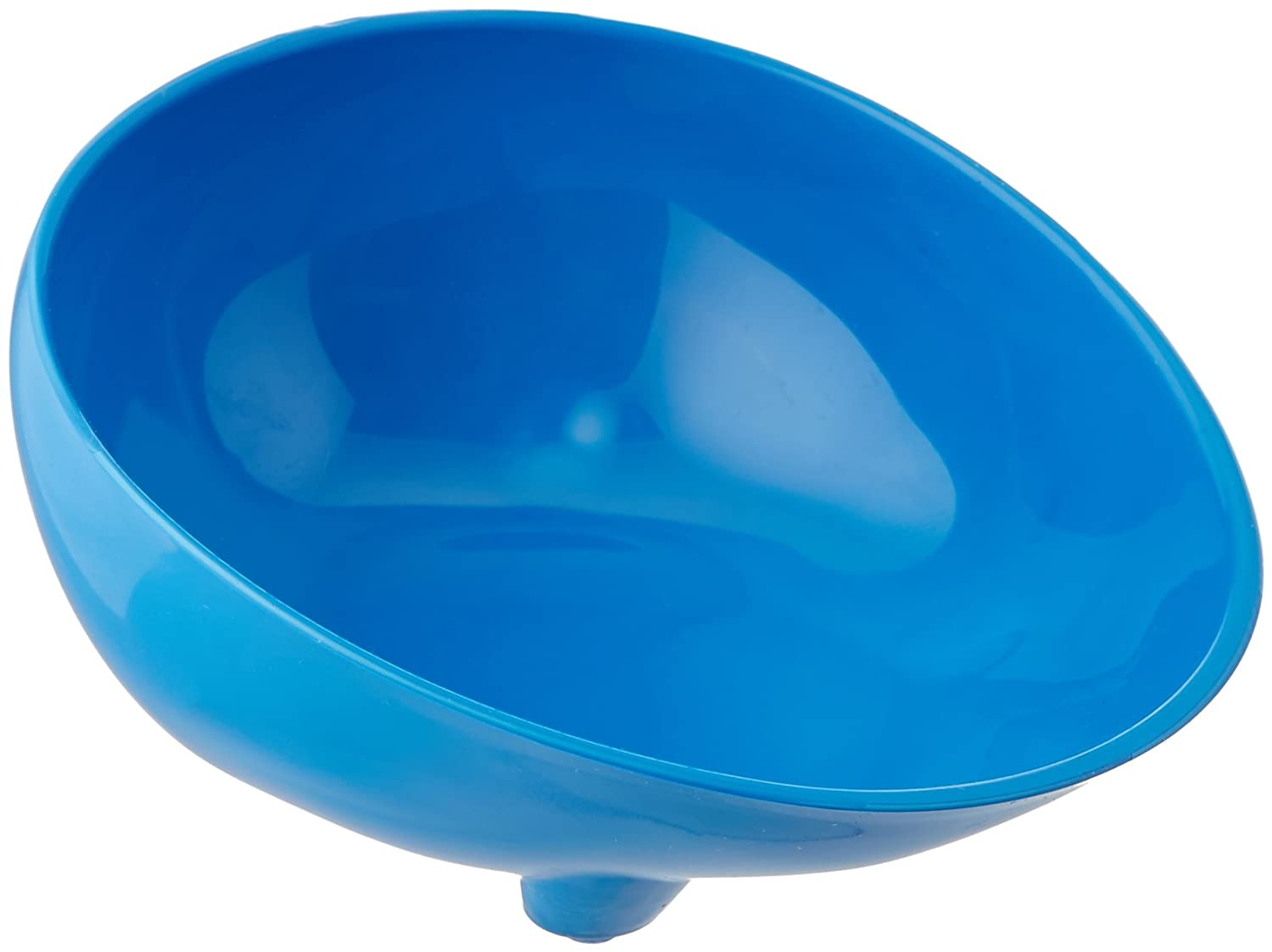 Sammons Preston 55520 Blue Polyester Scooper Bowl Hi Lo Dish With Contoured Lip And Non Skid Feet For Independent Eating For Elderly Kids Handicapped And Disabled Heavy Duty Poly Bowls Industrial Scientific Amazon Com