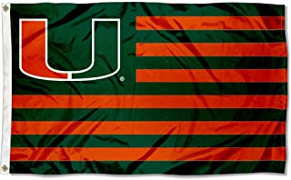 Miami Hurricanes Stars and Stripes Nation Flag