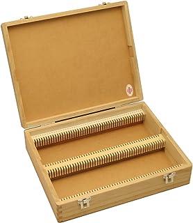 東和産業 プレパラートボックス 木製 厚型100枚用