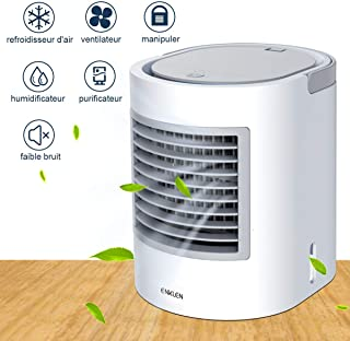 Aire acondicionado portátil, refrigerador portátil, frma fácil y rápida de refrescar el espacio personal, tal como se ve en la televisión, adecuado para la habitación, la oficina y la sala de estudio.