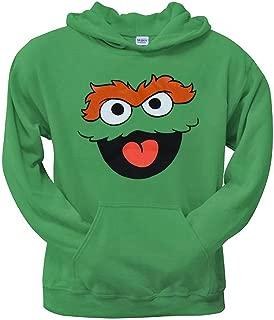 Sesame Street Oscar The Grouch Face Youth Hoodie