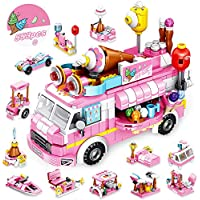 Vatos 553 Pieces Ice Cream Toy Truck Set for Girls