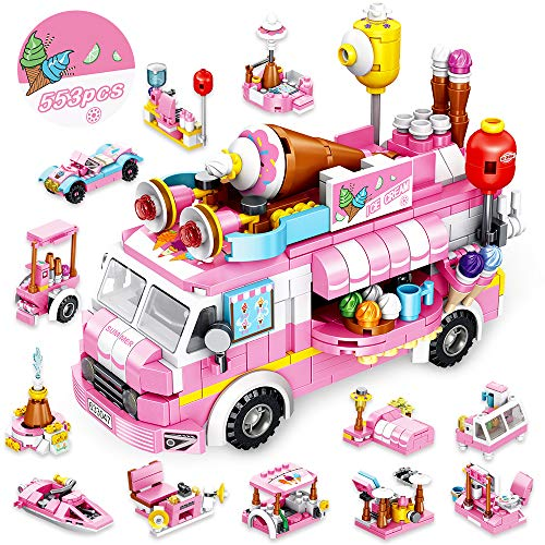 (59% OFF) Building Blocks Toys 553 Pieces Ice Cream Truck Set $19.71 Deal