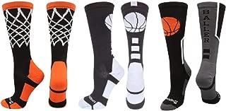 Basketball Socks with Basketball Logo Athletic Crew Socks (Over 20 Colors)