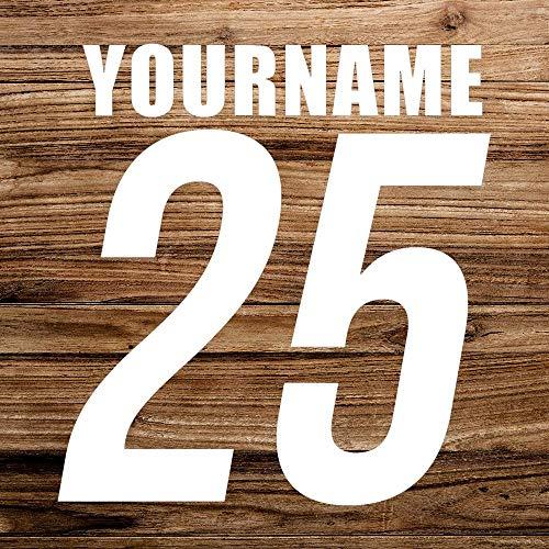 Racing Nummer Naam Auto Sticker, Aangepaste Vinyl Auto Decal, Decor voor Raam, Bumper, Laptop, Muren, Computer, Thmbler, Mok, Beker, Telefoon, Vrachtwagen, Auto Accessoires