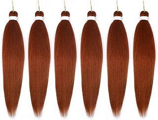 موهای بافته قبل از کشش ، 26 اینچ 6 بسته EZ Braid Itch Free Synthetic Fiber Crochet Twist Braist ، بالا موهای ابریشمی بافته شده مو ، قوطی آب گرم (26 ، 350