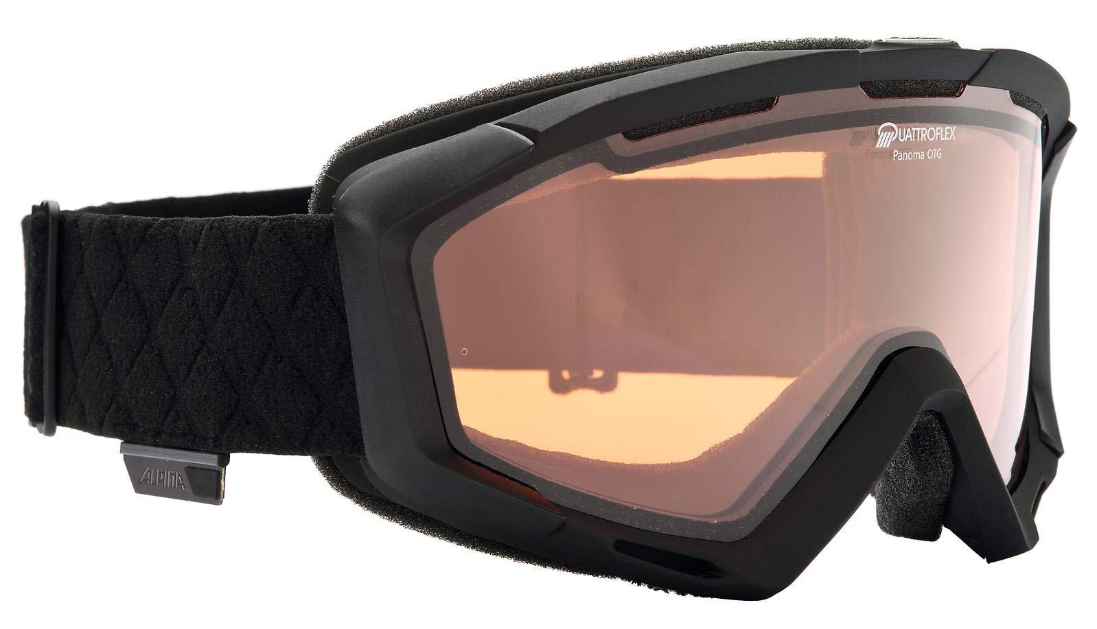 ALPINA PANOMA Skibrille, Unisex– Erwachsene, black, one size