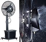 Sichler Haushaltsgeräte Ventilator für draußen: Professioneller Standventilator VT-761.S, mit Sprühnebelfunktion (Ventilator mit Sprühnebel Outdoor)