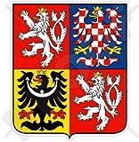 TSCHECHISCHE REPUBLIK Wappen Badge Kamm 100mm Auto & Motorrad Aufkleber, Vinyl Sticker