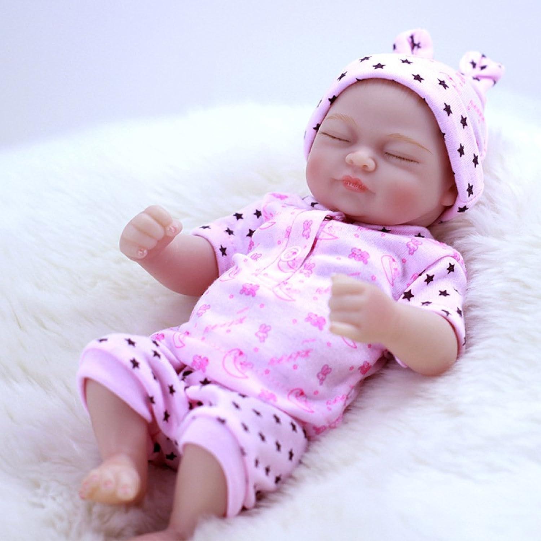 LIJUN Rebirth Doll Simulation Baby All Soft Plastic Toy 26cm Closed Eye Doll,26cm