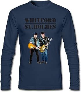 DIY Whitford St. Holmes Reunion Men's Long-Sleeve Fashion Casual Cotton T-Shirt