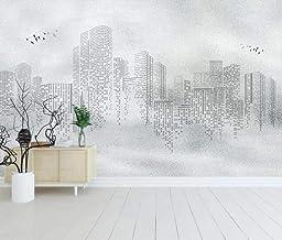 Papel Pintado 3D Resumen Ciudad Edificio Blanco Y Negro Fotomurales Salón Dormitorio Despacho Pasillo Decoración Murales P...