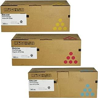 Ricoh 406345, 406346, 406347 Standard Yield Toner Cartridge Set Colors Only (C/M/Y)
