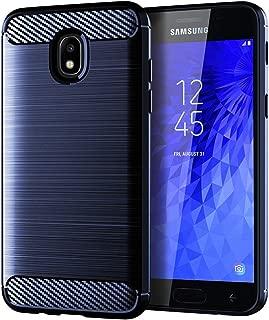 ASMART Case for Samsung Galaxy J3 2018/Galaxy J3 Star/Galaxy J3 Achieve/Galaxy Express Prime 3/Galaxy Amp Prime 3/Galaxy J3 V 3rd Gen/J3V 2018/J3 Orbit/J3 Aura/Sol 3 Slim TPU Cover Phone Case, Blue