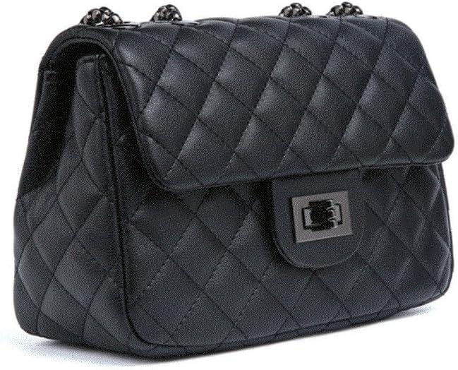 les femelles avec mini chaîne sac toute explosion crossbody filles sac à l'épaule, 20 * 8 *14cm,noir Noir