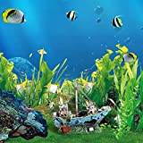 UEETEK Fish Tank Zubehör Schiff Aquarium Ornament Dekoration für kleine Fische Garnelen Cichild Schildkröte - 5