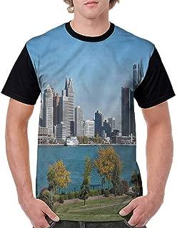 BlountDecor Performance T-Shirt,Hippie Style Paisley Fashion Personality Customization