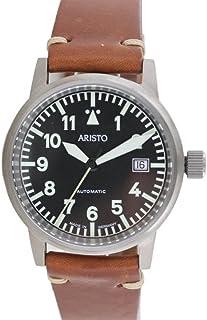 Aristo - Reloj de pulsera unisex vintage, reloj de aviador automático, titanio 5H100