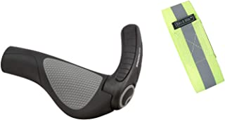 Bike A Mile Ergon Grips - Ergon Bike Grips Ergon GP1, Ergon GP2, Ergon GP3, Ergon GP4, Ergon GP5 Bicycle Grips with Reflective Armband