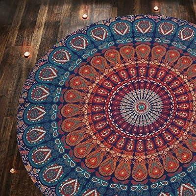 Tapiz naranja mide 122 cm hecho de tela de algodón 100% con diseño serigrafiado en él. Esta hermosa pieza de decoración para el hogar se puede utilizar como tapiz, colgar en la pared, colcha, decoración de pared, decoración de la cama, separador de h...