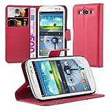 Cadorabo Funda Libro para Samsung Galaxy S3 / S3 Neo en Rojo CARMÍN - Cubierta Proteccíon con Cierre Magnético, Tarjetero y Función de Suporte - Etui Case Cover Carcasa