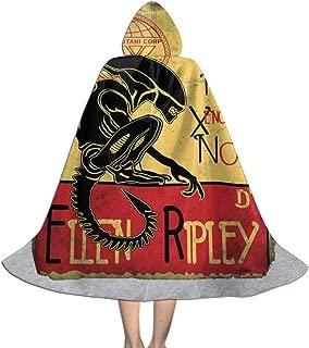 Tournee Du Xenomorphe Noir D Ellen Ripley Alien Unisex Kids Hooded Cloak Cape Halloween Christmas Party Decoration Role Cosplay Costumes Outwear