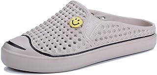 FDSVCSXV Garden Clogs Breathable Lightweight Flip Flops Quick-Dry Mesh Water Shoes Non-Slip Footwear Beach Sandals Hole Sl...