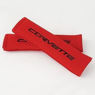 Corvette Seatbelt Harness Pad : 2005-2013 C6 (Red with Black)