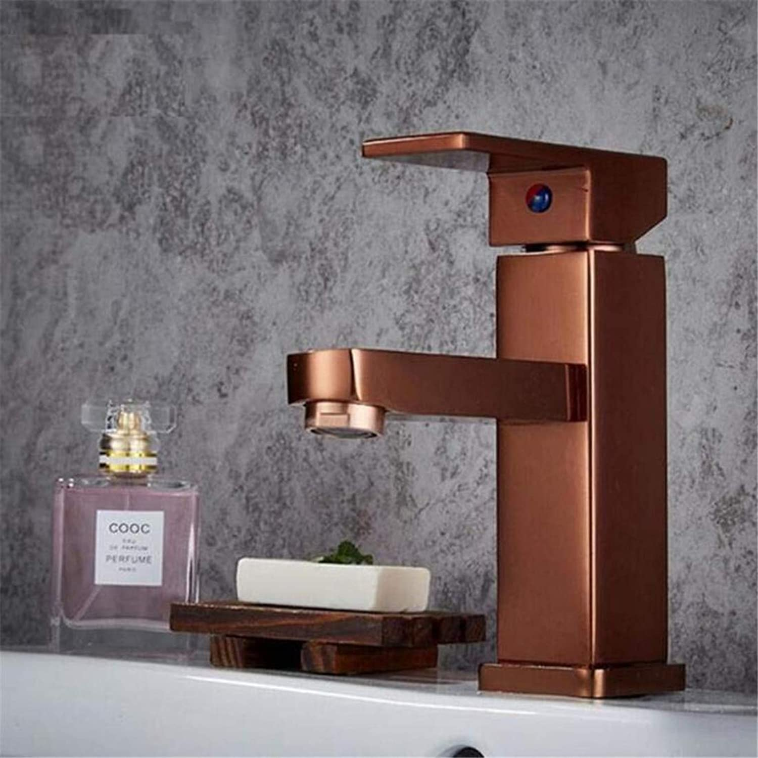 Faucet Vintage Plated Kitchen Bathroom Faucet Faucet Washbasin Mixer Single Handle Bathroom Basin Faucets Square Space Faucet Cold Hot Mixer Basin Sink Tap